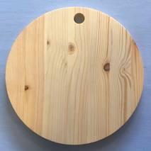 Доска сырная дерево круг с отверстием 24,5 см - Другое