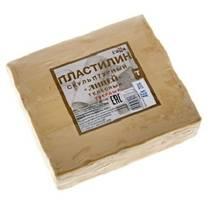 """Пластилин скульптурный телесный твердый """"Лицей""""  0,5 кг - Пластилин скульптурный"""