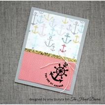 Бумага для скрапбукинга из набора First Edition - Sail Away, 30,5х30,5 см - Бумага для скрапбукинга