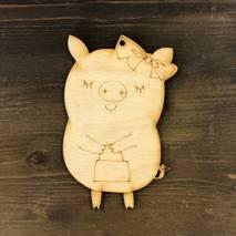 """Заготовка """"Свинка с сумочкой"""" - Фигурные заготовки"""
