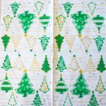"""Салфетка 33*33 см """"Елки зеленые"""" - Новый год"""