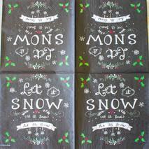 """Салфетка 33*33 см """"Let it snow"""" - Новый год"""