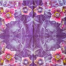 "Салфетка 33*33 см ""Орхидеи"" - Флора и фауна"