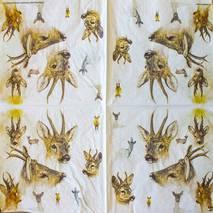 "Салфетка 33*33 см ""Олени"" - Флора и фауна"