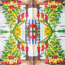"""Салфетка 33*33 см """"Елка с подарками"""" - Новый год"""
