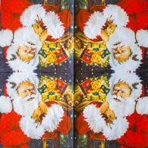 "Салфетка 33*33 см ""Санта"" - Новый год"