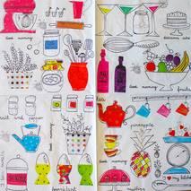 """Салфетка 33*33 см """"Кухонные мотивы"""" - Кухонная тематика и еда"""