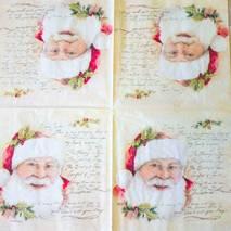 """Салфетка 33*33 см """"Письмо и Санта"""" - Новый год"""