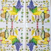 """Салфетка 33*33 см """"Вино и сыры"""" - Кухонная тематика и еда"""