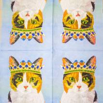 "Салфетка 33*33 см ""Кот"" - Флора и фауна"