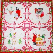 """Салфетка 33*33 см """"Рождественская открытка"""" - Новый год"""