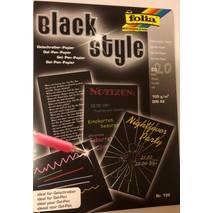 Бумага чёрная для гелевых ручек, А5 - Скетчбуки и блокноты