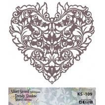 "Трафарет - маска ""Сердце ажурное"", коллекция ""Trendy Shadow"", 25*25 см - Трафареты"