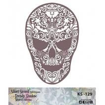 "Трафарет - маска ""Череп"", коллекция ""Trendy Shadow"", 25*25 см - Трафареты"