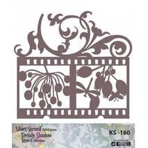"Трафарет - маска ""Вензель-стрекоза"", коллекция ""Trendy Shadow"", 25*25 см - Трафареты"