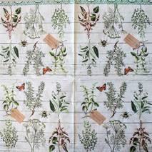 """Салфетка 33*33 см """"Растения и доски"""" - Флора и фауна"""