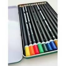 Набор цветных карандашей в металлической кассете, 12 цветов - Инструменты