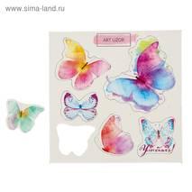 """Чипборд для скрапбукинга (""""Бабочки"""" 10х10 см) - Бумажные элементы"""