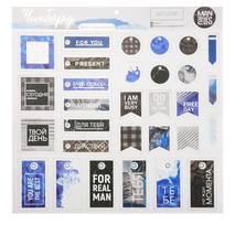 """Чипборд вырубной для скрапбукинга """"Man rules"""", 29,5 х29,5 см - Бумажные элементы"""