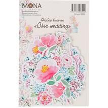 """Набор декоративных элементов (""""Chic wedding"""" 28 элементов) - Бумажные элементы"""