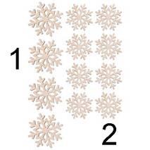 """Набор """"Снежинка деревянная"""", 3 см - Объемные элементы"""