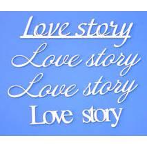"""Чипборд надпись """"Love story"""" 9*13 см - Объемные элементы"""