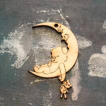 """Заготовка """"Мишка спит на луне"""" - Фигурные заготовки"""