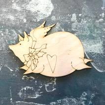 """Заготовка """"Свинка с крыльями"""" - Фигурные заготовки"""
