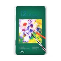 Набор акварельных карандашей в металлической кассете 12 цветов + кисть - Инструменты