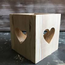 """Подсвечник деревянный с сердечком"""" - Другое"""