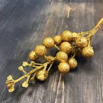 Ягоды декоративные, золото - Объемные элементы