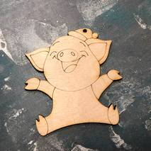 """Заготовка """"Счастливая свинка"""" - Фигурные заготовки"""