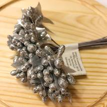 Тычинки,  серебро - Объемные элементы