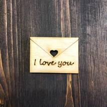 """Миниатюра """"Письмо i love you"""" - Фигурные заготовки"""