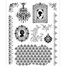"""Набор силиконовых штампов, """"Камея"""", 14х18 см - Штампы"""