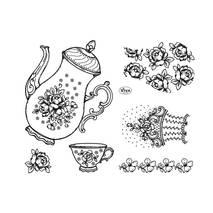 """Набор силиконовых штампов, """"Чайная церемония"""", 14х18 см - Штампы"""
