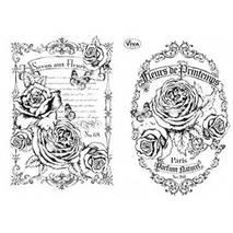 """Набор силиконовых штампов, """"Fleurs"""", 14х18 см - Штампы"""