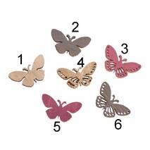 Деревянные бабочки, 2.5x1.2 cm - Объемные элементы