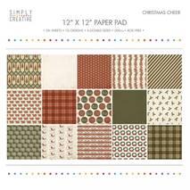 Бумага для скрапбукинга - Christmas Cheer, 30,5х30,5 см, 200г/м2 - Бумага для скрапбукинга