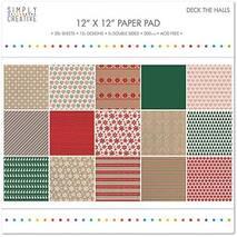 Бумага для скрапбукинга - Deck the Hall, 30,5х30,5 см, 200г/м2 - Бумага для скрапбукинга