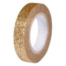 Клеевая лента с глиттером, золото - Ленты, ткани