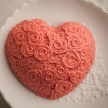 """Форма для мыла """"Сердце из роз"""" - Мыловарение"""