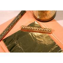 Фольга декоративная - поталь, 100 листов, 14x14 см - Товары для золочения, патины