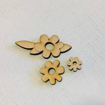 """Набор миниатюр """"Цветы"""" - Фигурные заготовки"""