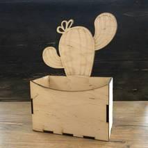 Коробка с кактусом - Подносы и ящики
