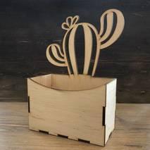 Коробка с кактусом с прорезями - Подносы и ящики