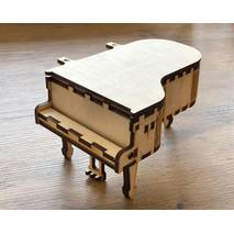 Шкатулка-рояль мини, 10*16*9 см - Шкатулки