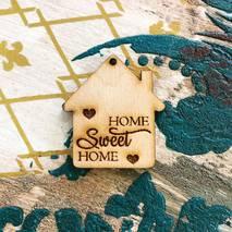 """Заготовка """"Домик Home sweet home с сердечком"""" - Фигурные заготовки"""