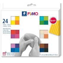 Набор полимерной глины FIMO basic, 24 цвета - Запекаемая полимерная глина