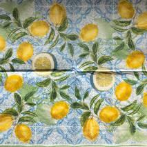 "Салфетка 33*33 см ""Лимоны"" - Кухонная тематика и еда"